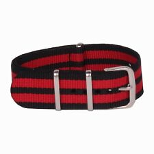 Army Military Red Watchband Nylon Watch Straps 18mm 20mm 22mm 24mm Bands