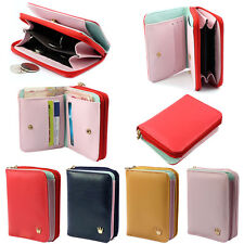Womens Ladies Card Crown Holder Wallet Leather Clutch Purse Bag