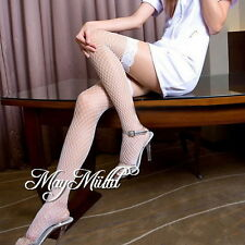 New Fashion Womens Sexy Lace Top Stocking Large Fishnet High Skinny Hosiery
