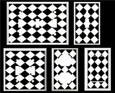 DIAMOND PATTERN BLACK AND WHITE HOME DECOR  IMAGE LIGHT SWITCH COVER PLATE