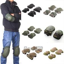 6 Color Airsoft Tactical Knee & Elbow Protective Pads Set Protector Gear Sports
