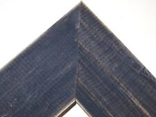 "1.5"" Country Dark Navy Blue Rustic Distress Weathered Wood Picture Frame-Square"