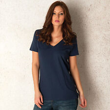 Womens Levi's Relaxed V Neck T-Shirt In Navy From Get The Label