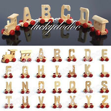 Lovely Wooden Train Letters Perfect For Birthday Xmas Wedding All Occasion Party