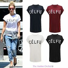 CELFIE CELINE CELEBRITY T-SHIRT VOGUE SELFIE WOMENS TOP HIPSTER SWAG DOPE WASTED