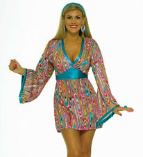 New Adult Halloween Costume Retro 60s 70s Hippie Outfit