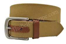 Tommy Hilfiger Canvas Casual Wear Belt - Khaki Brown - New w/ Tags - SZ 32 - 44