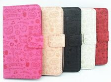 Cute Magic Girl PU leather Card slots Wallet Pouch Case Cover For Samsung Phones
