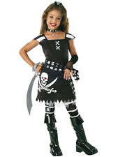 Child Drama Queens Scarlet Outfit Fancy Dress Costume Halloween Pirate Kids