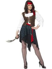 Adult Pirate Lady Fancy Dress Costume Sexy Caribbean Ladies Womens Female BN