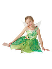 Child Licensed Disney Tinkerbell Fairy Fancy Dress Costume Kids Girls BN