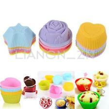 6/12pcs Silicone Cake Cupcake Mold Case Muffin Chocolate Cookie Baking Mould