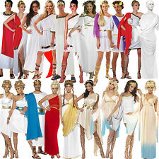 Ladies Grecian Sexy Roman Toga Greek Goddess Fancy Dress Costume Mens Senator