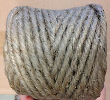 NATURAL LIGHT BROWN JUTE cord twine craft macrame THICK 4 ply 5- 45 yards SPOOL