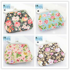 New Girls Women Cute Rose Flower Cloth Mini Coin Purse Wallet Change Purse Case