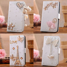 For Apple ipod touch 5 fold Leather Case Wallet 3D bling crystal handmade cover