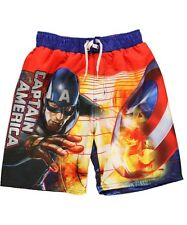 CAPTAIN AMERICA MARVEL AVENGERS Bathing Suit Swim Trunks NEW Boys Sizes 4-8  $25