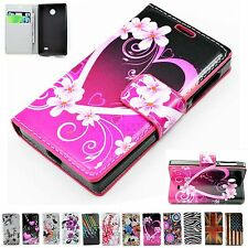 New Leather Pouch Wallet Stand Flip Rubber Cell Phone Case Cover For Nokia X  X+