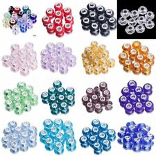 Hot Sale! 10pcs Charms Faceted Lampwork Murano Glass Beads For European Bracelet
