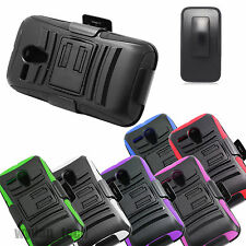 For Motorola Rugged Hybrid Stand Holster Clip Case Dual Layer Phone Cover