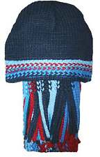 Ex-Store Boys Blue & Red Soft Knitted Hat & Scarf Set
