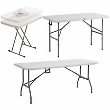 HEAVY DUTY FOLDING TRESTLE TABLE PICNIC/CAMPING/BBQ BANQUET/PARTY/MARKET/GARDEN
