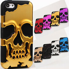 2 in 1 3D Skull Horror skeleton Cool PC Stand case cover skin for iPhone 5C