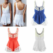 2014 new Celeb Lace Chiffon Party Club Jumpsuit Beach Dress Shorts Playsuit hot