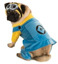 DESPICABLE ME MINION Jumpsuit Headpiece Goggles Pet COSTUME  Dog