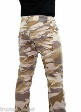 NWT True Religion Men's Ricky Twill Camo Straight Leg Super Cool Jeans Pants