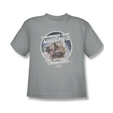 Back To The Future 2 Synchronize Watches T-Shirt Youth Boy Girl Silver S M L Xl