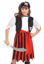 Kids Girls Caribbean Pirate Lass Halloween Costume