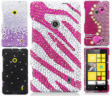 For Nokia Lumia 520 Crystal Diamond BLING Hard Case Snap Phone Cover Accessory