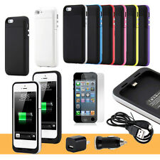 2500mAh External Backup Power Battery Charger Case Cover Charge For iPhone 5 5S