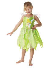 Child Licensed Tinkerbell Classic Fancy Dress Costume Fairy Peter Pan Girls BN