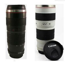Camera Lens EF 70-200mm Coffee Tea Travel Mug Stainless Steel Thermos 14oz Cup