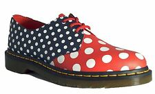 Dr Martens Meris 1461 White Navy Red Polka Dot Leather Shoes