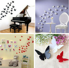 HOT 12 pcs 3D Wall Sticker Stickers Butterfly Home Decor DIY Room Decorations JP