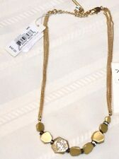 1 KENNETH COLE 'SPRINGTIME ROSE'  Necklace or  Earring gold tone pave crystal
