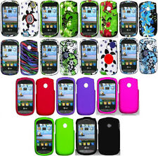 LOTS OF 3 items FOR LG Cookie Style 800G (Tracfone) Faceplate Phone Cover Case