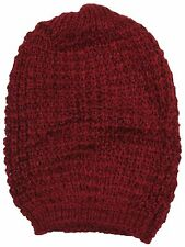 RJM Ladies Knitted Slouch Beanie Hat with Lurex