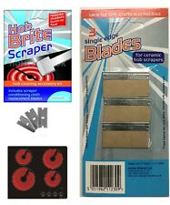 HOB BRITE SCRAPER CLOTH BLADE CLEANING KIT CLEANER REMOVE STUBBORN BURNT ON FOOD