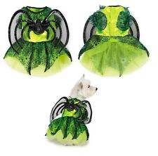 NEON SPIDER PRINCESS Costume for Dogs - Shimmery Winged Dog Costumes with Skirt