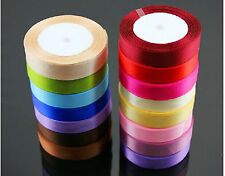 free ship 25 Yard Multicolor Satin Ribbon Wedding Sewing Embellishment 2cm U