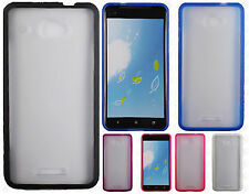 Verizon HTC Droid DNA TPU Gel GUMMY Protector Hard Skin Cover + Screen Guard