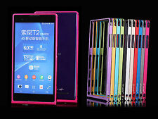 Ultra-thin Metal Aluminum Alloy Bumper Frame Shell Cover Case For Sony Xperia T2