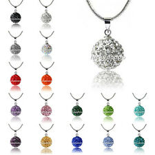 1pcs 10mm Fashion Disco perles en cristal de Shamballa de collier pendant 16 ""