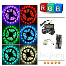 5050 5M RGB SMD LED Strip Light+ 44Key IR Remote Controller+Power Supply Adapter