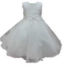 New White/Ivory Flower Girl Dress Pageant Wedding Bridesmaid Dance Party 2 4-10