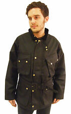 Campbell Cooper Brand New English Wax Cotton Classic Motorcycle Jacket Black